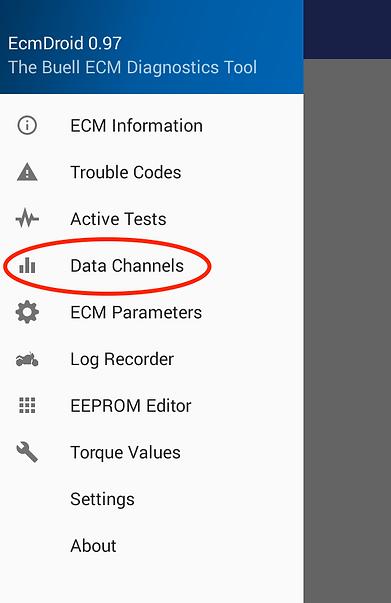 EcmDriod data channels
