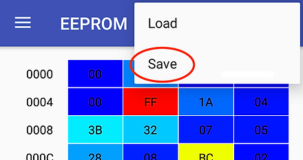 EEPROM configuration