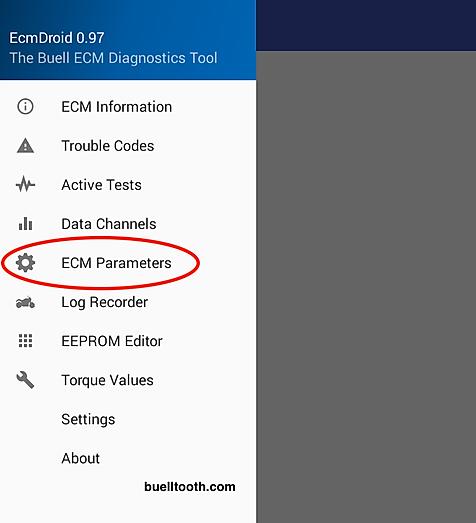 ECM parameters setting