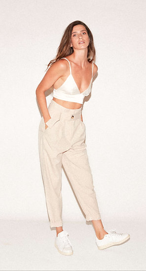 Noblesse Beige Trousers SS20
