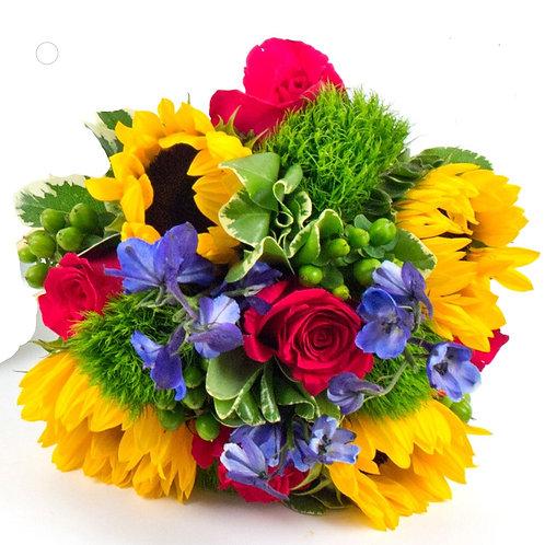 Bold & Bright Bridesmaid Bouquet