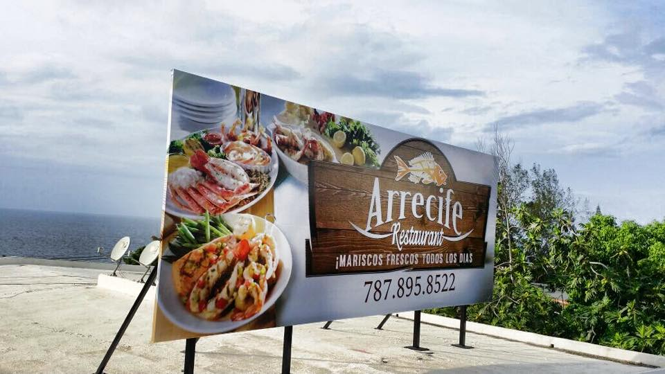 Billboard Arrecife Restaurant.