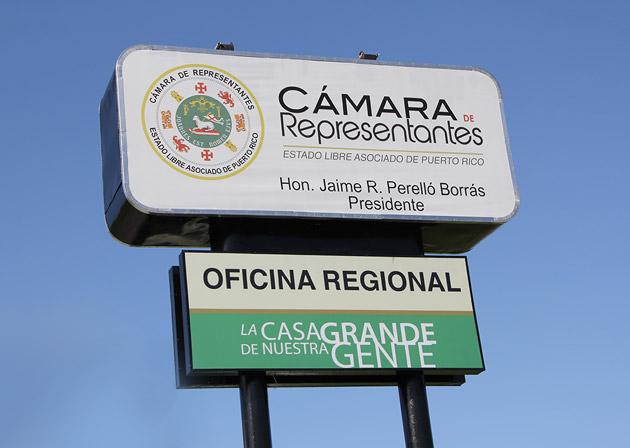 Rotulo Regional de la Cámara.