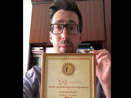 """Emanuele Bianchi, riceve il Premio Crocitti: """"Lo dedico a Yurani. Ringrazio  Pratelli e Fiumarella"""""""