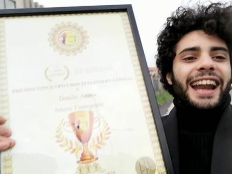 Danilo Arena vince il Premio Vincenzo Crocitti International:Ringrazio di cuore Francesco Fiumarella
