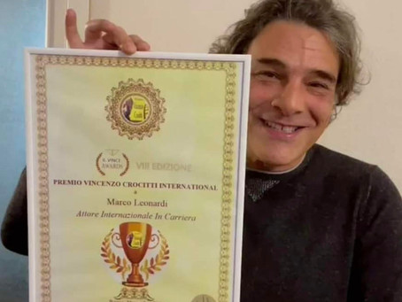 """Marco Leonardi vince il Premio Vincenzo Crocitti International: """"Ringrazio mio padre e il cinema"""""""