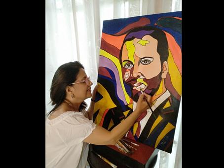 Anna Maria Zoppi, il quadro I colori della meritocrazia dedicato a Francesco Fiumarella | INTERVISTA
