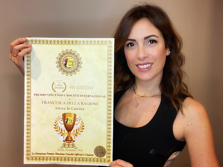"""Francesca Della Ragione vince il Premio Vincenzo Crocitti International: """"Lo dedico ai miei sogni"""""""