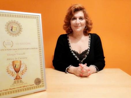 Giorgia Trasselli vince il Premio Vincenzo Crocitti International: Lo dedico a mio figlio e famiglia