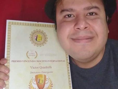 Victor Quadrelli vince il Premio Vincenzo Crocitti International: Lo dedico a Paolo  Villaggio e ...