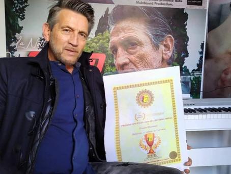 """Giulio Dicorato vince il Premio Vincenzo Crocitti International: """"Dedico il premio a me stesso"""""""