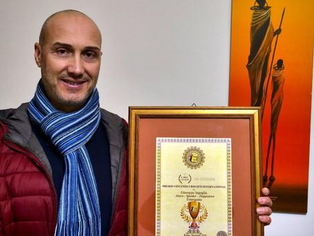 Giuseppe Ingoglia ha ricevuto il Premio Crocitti:lo dedico a chi ha creduto in me ma anche chi no...