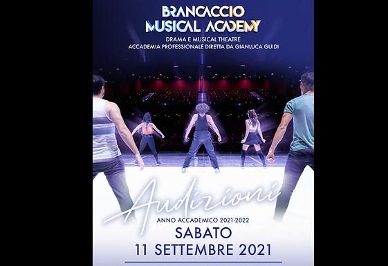 BRANCACCIO MUSICAL ACADEMY - 11 settembre Audizioni per l'anno accademico 2021/2022