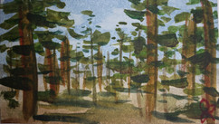 Imaginary forest business card painting, 2015