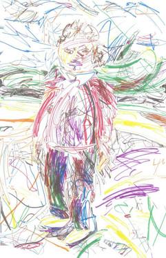 Zoe scribble portrait, 2012