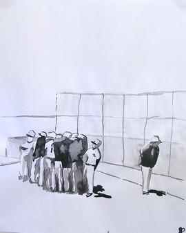 Baseball ink huddle, 2011