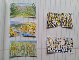Business card paintings, 2015
