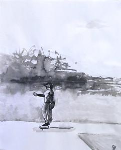 Baseball ink pitcher, 2011