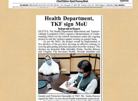 Our pride in our work: clippings of TKF in the news and media