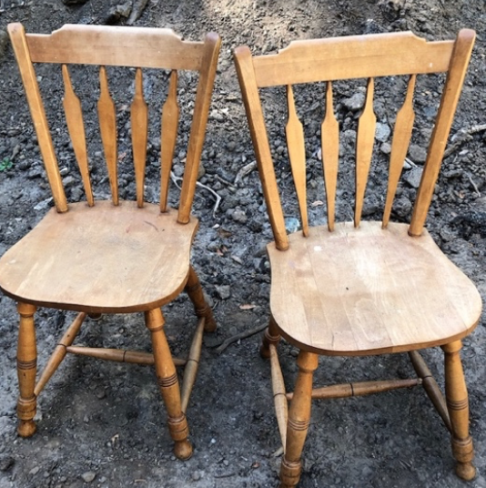 Solid wood chairs $20