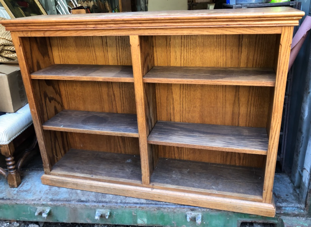 Solid Oak Bookcase $50