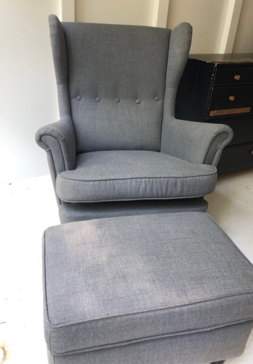 Ikea chair and ottoman $100