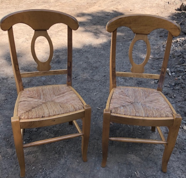 Wicker Seat Chairs $30