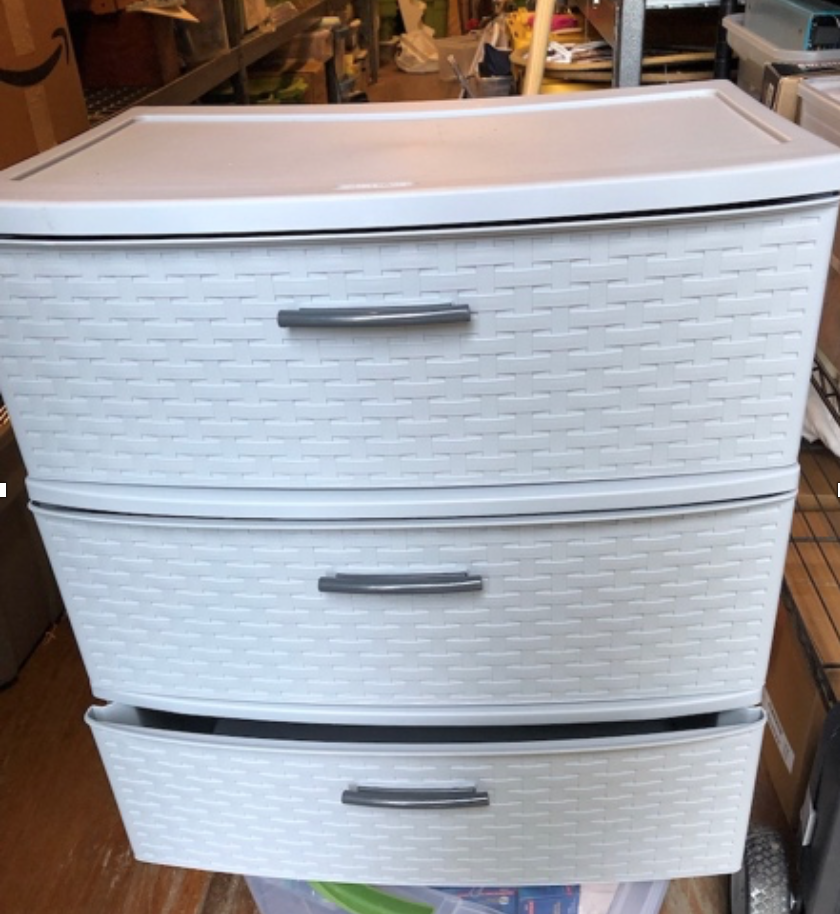 4 sets of 3 Sterilite drawers $15