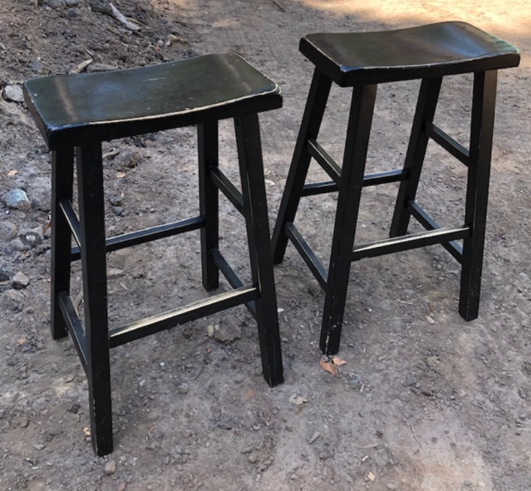 2 saddle seat stools $25