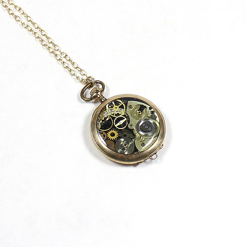 Frozen Time Antique Pocket Watch Necklace - Illinois Watch Co.