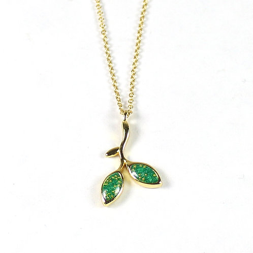 Gold Spring Buds Necklace