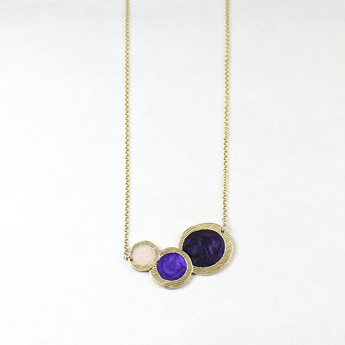 New Pluto's Moon Gold Round Necklace