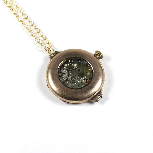 Frozen Time Antique Pocket Watch Necklace - Wadsworth