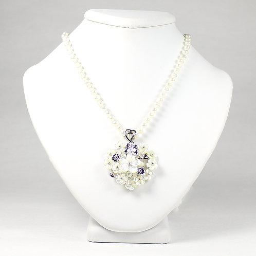 Blossom Flower Mother of Pearl Set - White