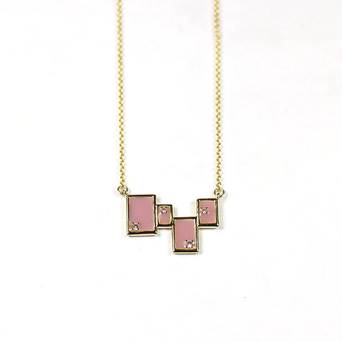 Gold Tetris Necklace