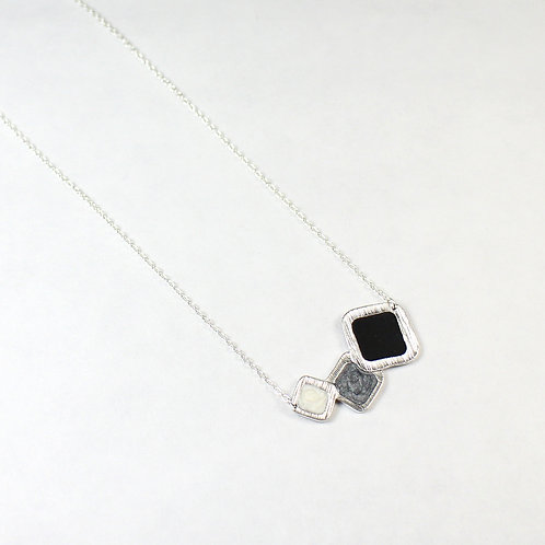 New Pluto's Moon Silver Square Necklace