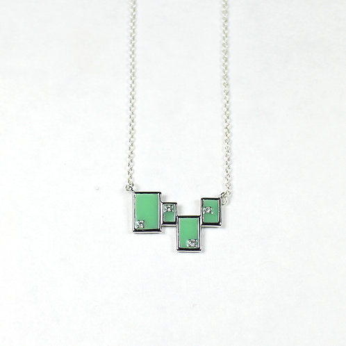 Silver Tetris Necklace