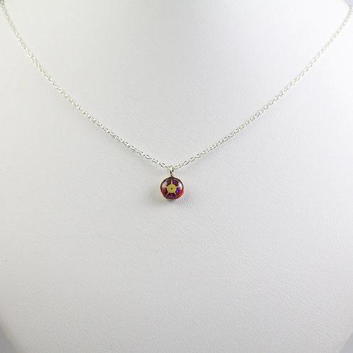 Steampunk Silver Watch Gear Necklace