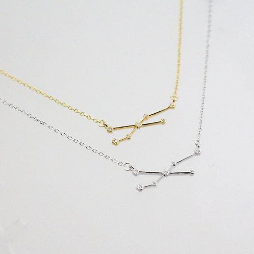 Taurus Zodiac Constellation Necklace