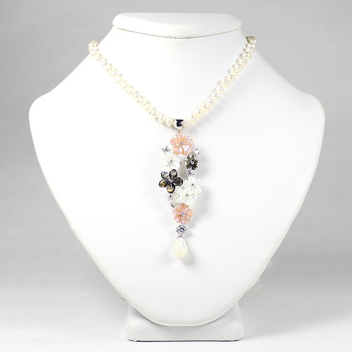 Blossom Flowers Mother Of Pearl Set - Pink
