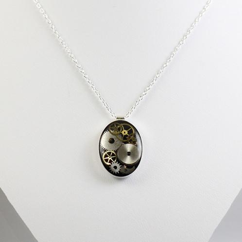 Silver oval frozen time necklace vivi sun jewelry new york silver oval frozen time necklace vivi sun jewelry new york handmade jewelry aloadofball Gallery
