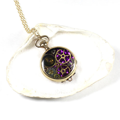 Frozen Time Antique Pocket Watch Necklace - Basis