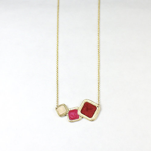 New Pluto's Moon Gold Square Necklace