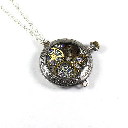 Frozen Time Antique Pocket Watch Necklace - Allemann