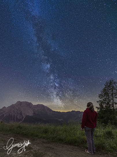 Milky Way over Bivera Mount