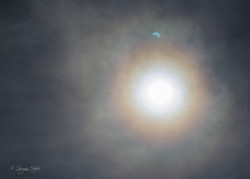 Alone Solare con riflesso Sole eclissato