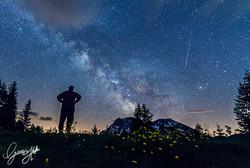 Milky way over Casera Razzo