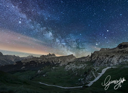 Milkyway over Giau Pass