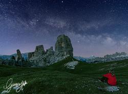 Milky Way over Cinque Torri
