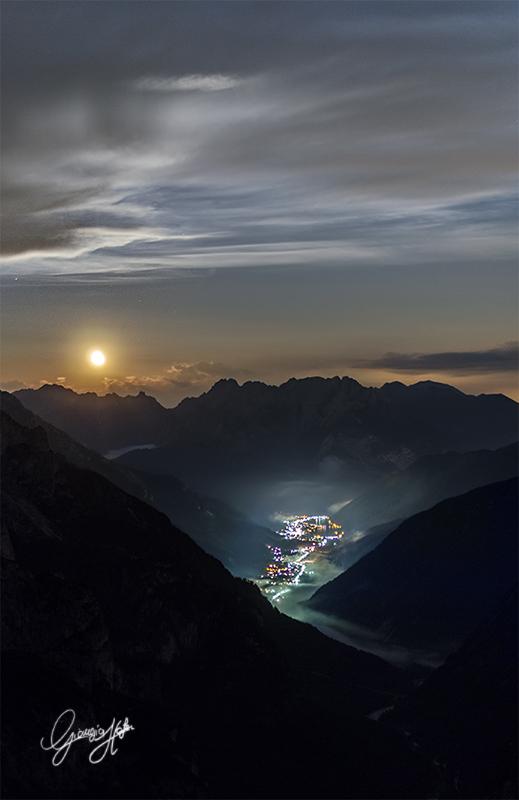 Moonrise over Auronzo di Cadore